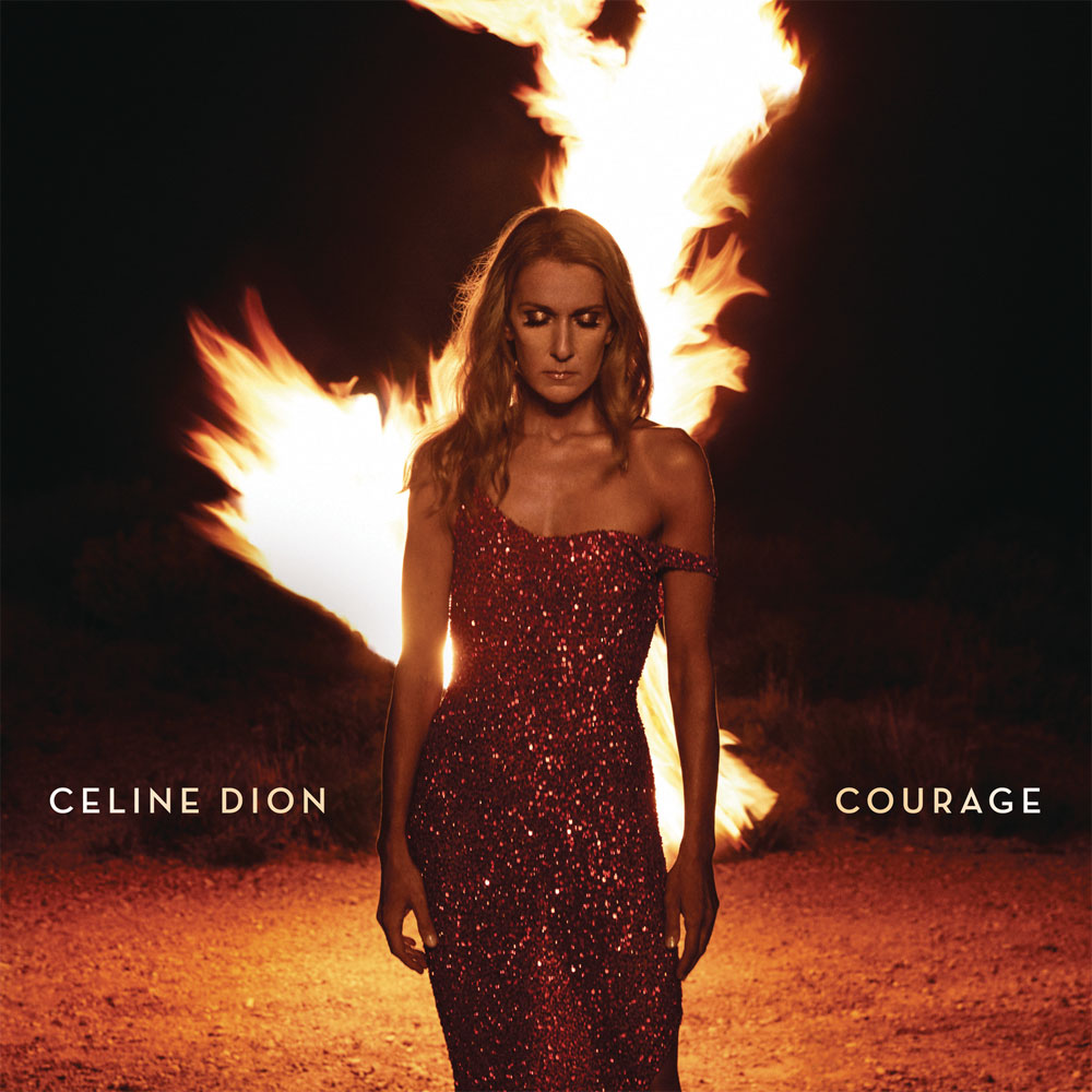 Celine Dion Courage 2LP (Ruby Red Vinyl)