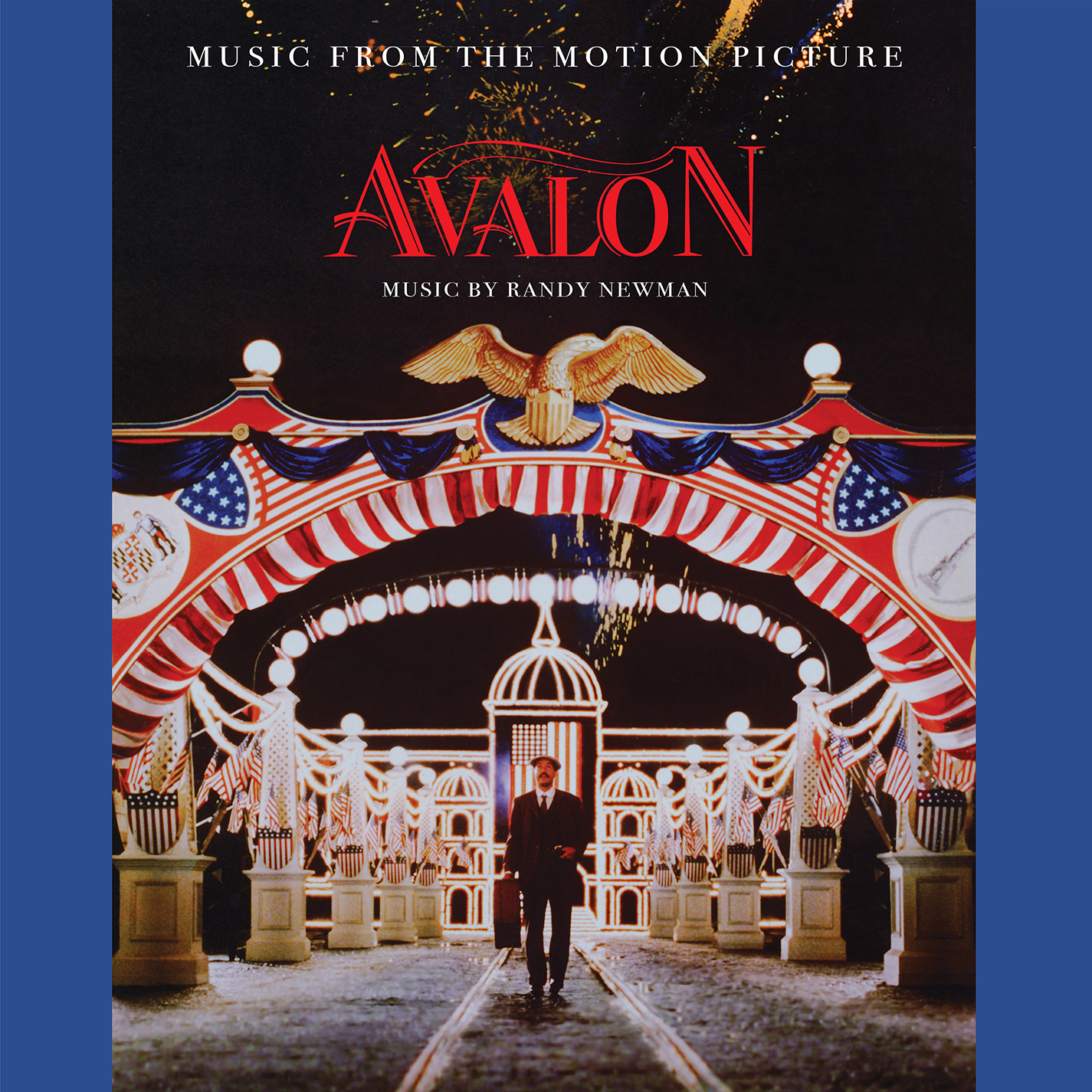 Randy Newman Avalon Soundtrack (Music From The Motion Picture Avalon) LP (Blue Vinyl)