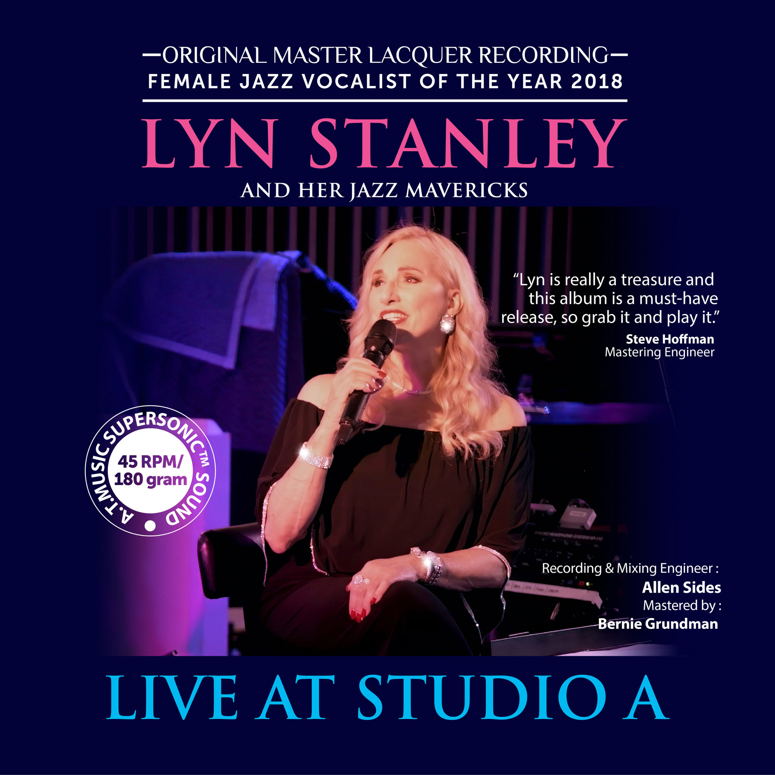 Lyn Stanley Live At Studio A Numbered Limited Edition 180g 45rpm 2LP (Autographed)