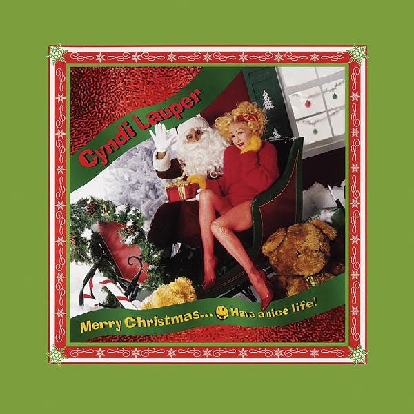 Cyndi Lauper Merry Christmas...Have A Nice Life! LP (Clear with Red & White Swirl Vinyl)