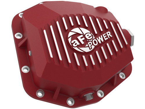 Afe Pro Series Rear Differential Cover Black w/ Machined Fins