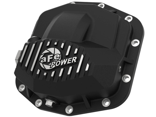 Afe Pro Series Front Differential Cover Black w/ Machined Fins & Gear Oil