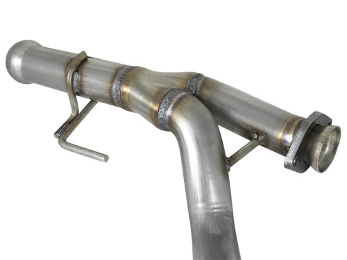 """Afe Twisted Steel Y-Pipe 2-1/4"""" 409 Stainless Steel Exhaust System"""