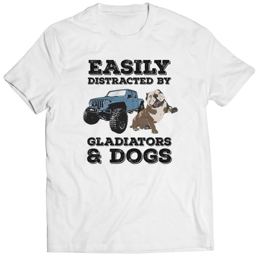 Easily Distracted by Gladiators & Dogs - Tshirt