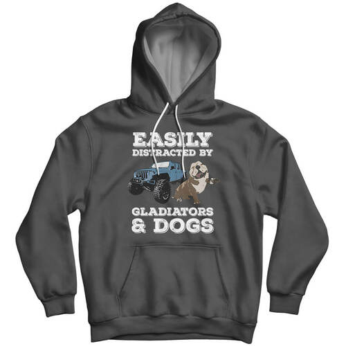 Easily Distracted by Gladiators & Dogs - Hoodie