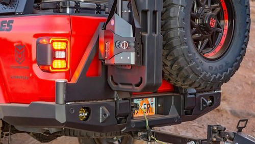 Expedition One Trail Series Dual Swing Rear Bumper Tire Carrier