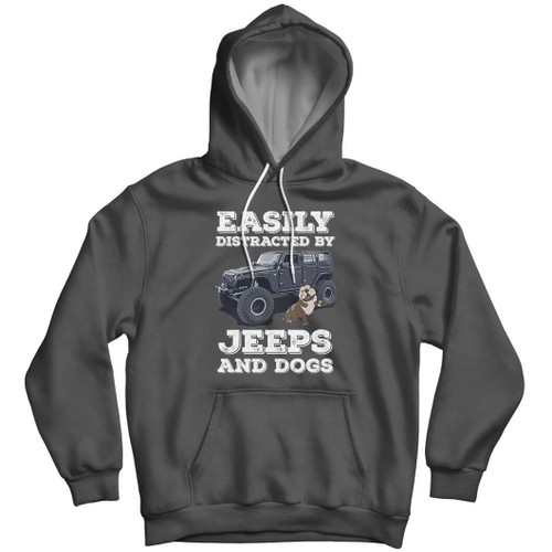 Easily Distracted By Jeeps & Dogs - Wrangler Hoodie