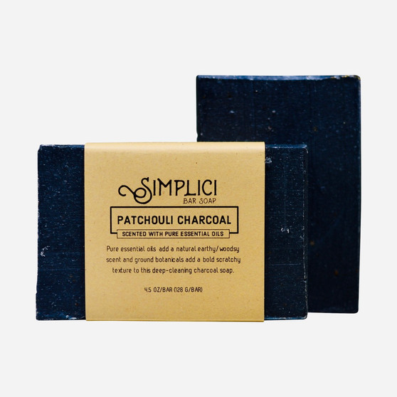 Simplici Patchouli Charcoal Bar Soap