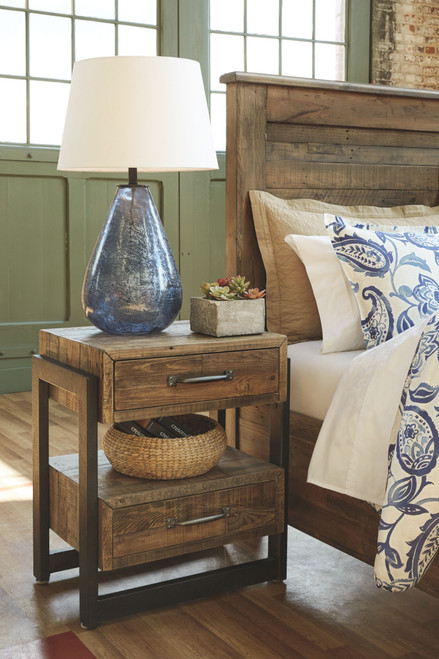 Sommerford Brown Two Drawer Night Stand