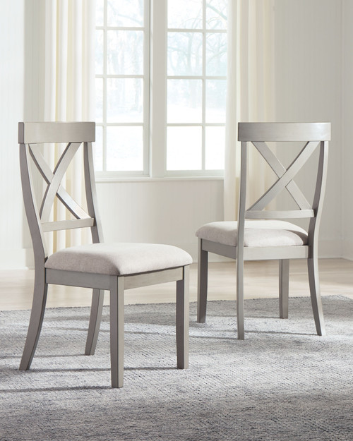 Parellen Gray Dining Upholstered Side Chair (Set of 2)