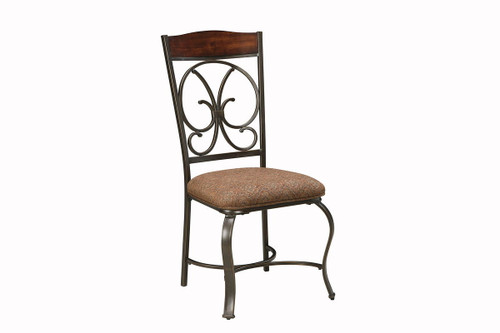 Glambrey Brown Dining Upholstered Side Chair (Set of 4)