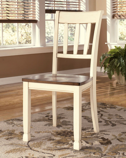 Whitesburg Brown/Cottage White Dining Room Side Chair (Set of 2)