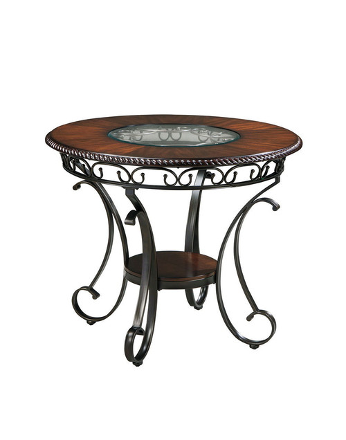 Glambrey Brown Round Counter Table