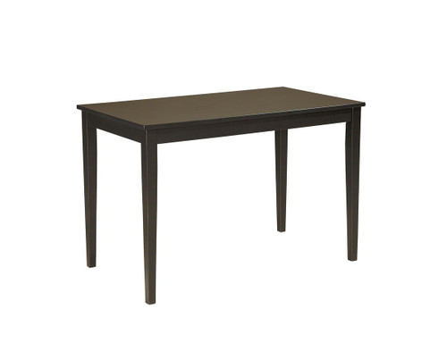Kimonte Dark Brown Rectangular Dining Room Table
