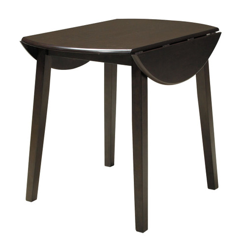 Hammis Dark Brown Round Drop Leaf Table
