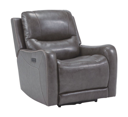 Galahad Smoke Zero Wall Recliner w/Power HDRST