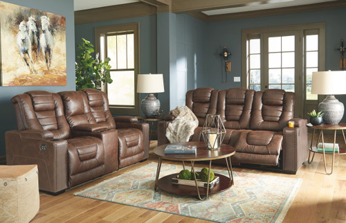 Owners Box Thyme 2 Pc. Power Reclining Sofa with Adjustable Headrest, Power Reclining Loveseat CON/Adjustable Headrest