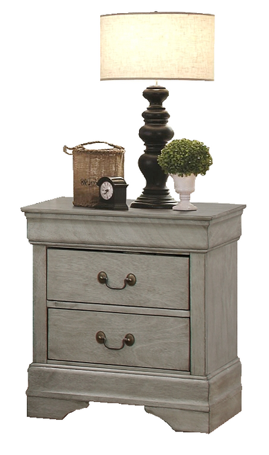 Louis Phillipe - Nightstand - Gray