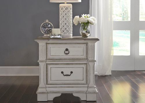 Abbey Park 2 Drawer Night Stand w/ Charging Station