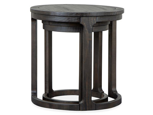 Boswell Round Nesting End Table
