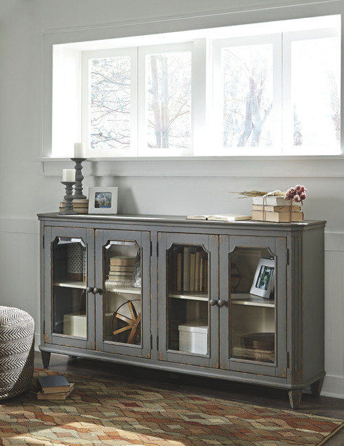 Mirimyn Antique Gray Accent Cabinet