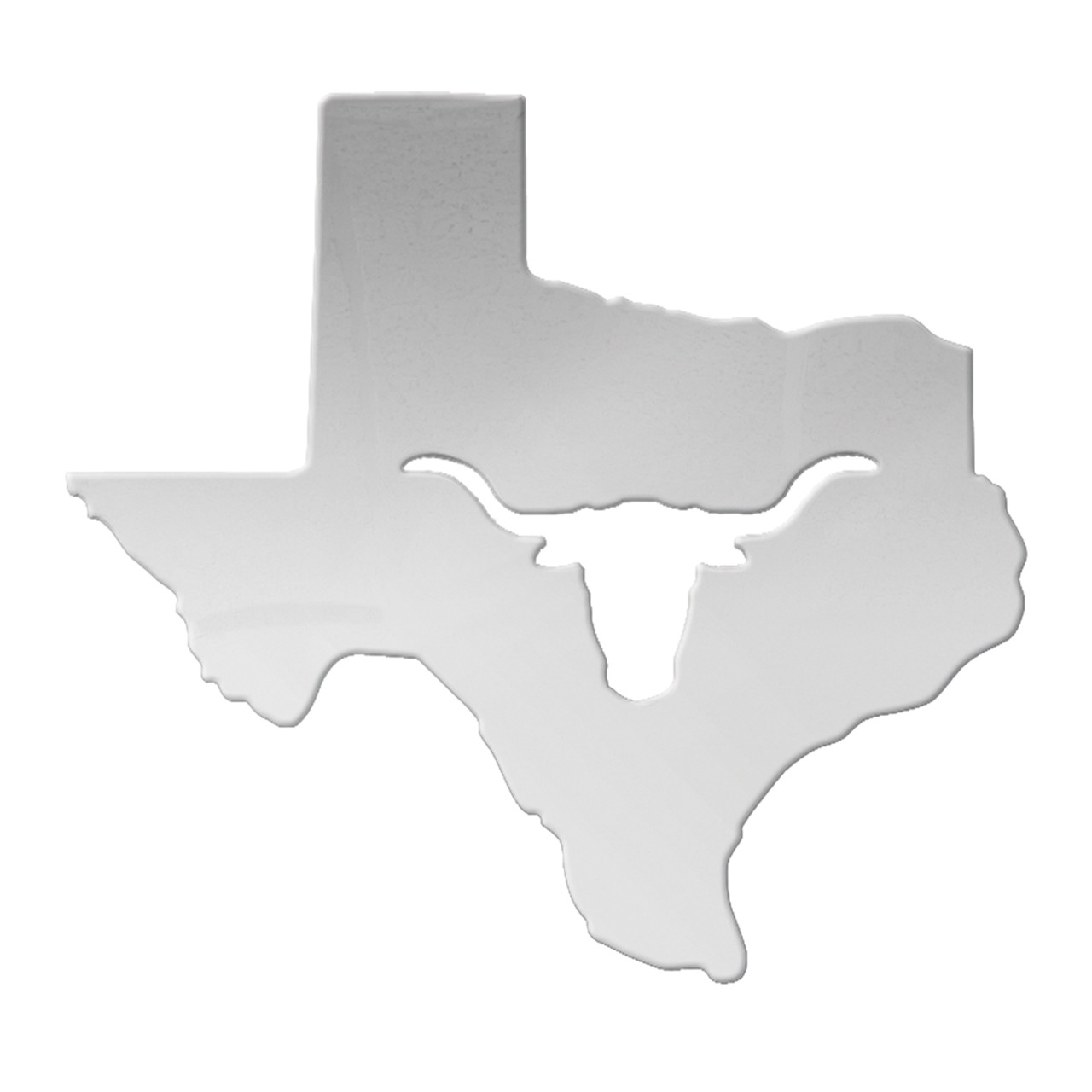 """12""""*11"""" Large Texas State cutout w/longhorn"""