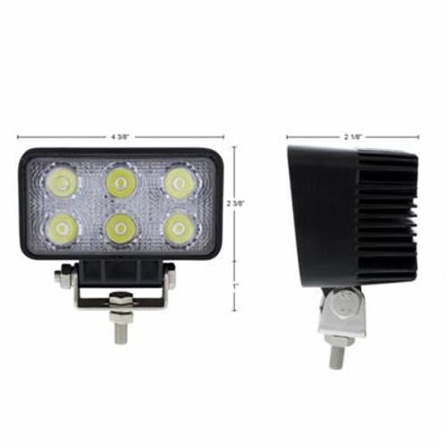 6 LED rect Driving/Work Light