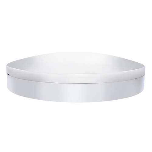 Chrome Moon Front Axle Cover With 33mm Low Profile Thread-On Nut Cover