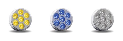 "2"" Round 7 LED Dual Color Marker Light"