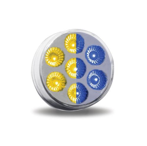 "2.5"" Round 7 LED Dual Color Marker Light"
