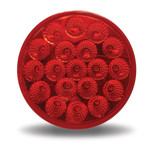 """4"""" 19 LED Red LED Stop, Turn & Tail light with or without Flange Mount"""