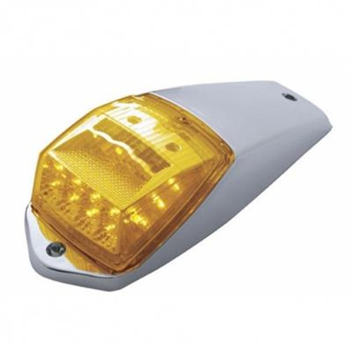 17 LED Reflector Square Amber Cab Light with Housing