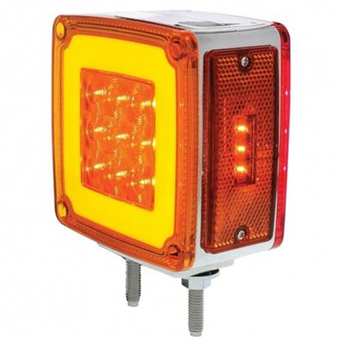 53 LED Double Face Glo Pedestal Light With Side Marker (Turn Signal)