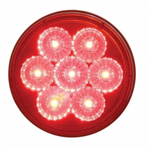 """7 LED 4"""" Reflector Red Stop, Turn & Tail Light"""