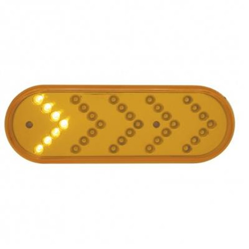 35 LED Reflector Oval Sequential Amber Turn Signal Light
