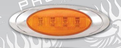 P1 Amber Marker Light with Chrome Bezel