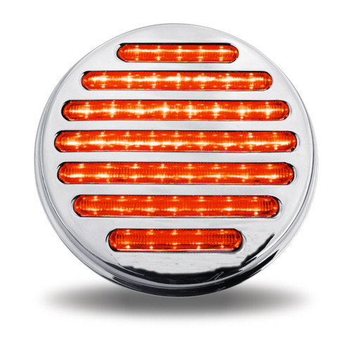 """49 LED 4"""" Stop, Turn & Tail Red Flatline Light with or without Flange Mount"""