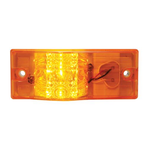 9 LED Rectangular Side Mount Spyder Amber Turn Signal Marker Light