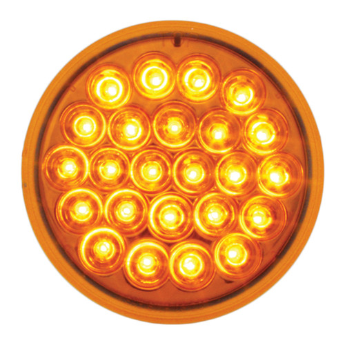 """24 LED 4"""" Round Pearl Stop, Turn & Tail Light"""