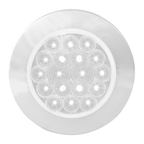"""18 LED  4"""" Round Fleet Backup Light with or without Chrome Bezel"""