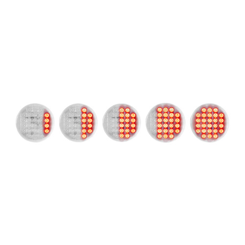 """26 LED 4"""" Dynamic Sequential Red Stop, Turn & Tail Light"""