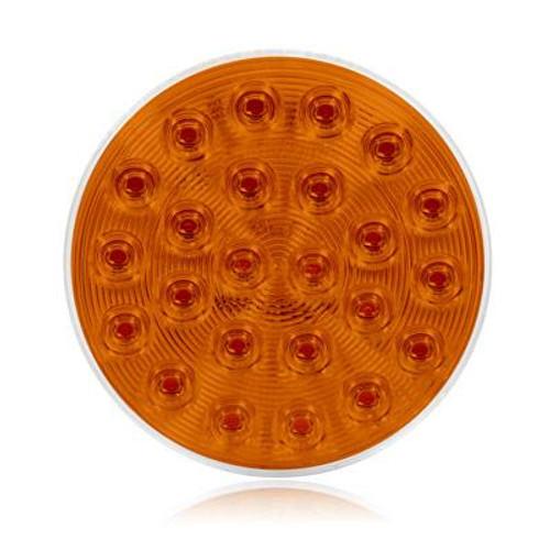 "24 LED 4"" Round Warning Light - 7 Selectable Flash Patterns"