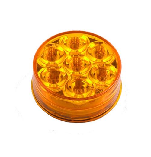 "7 LED 2"" or 2.5"" Round Marker Light"