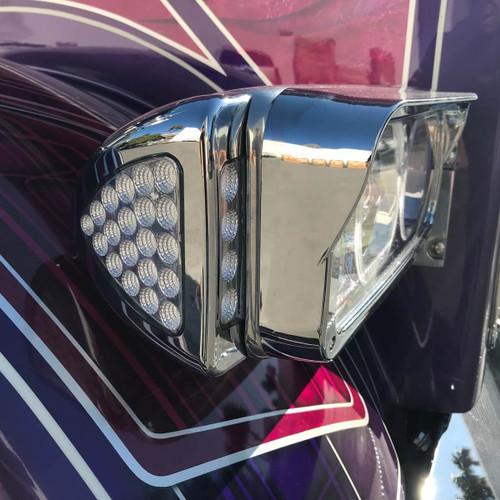 24 LED Dual Color Amber Turn Signal & Marker LED Peterbilt Side Headlight