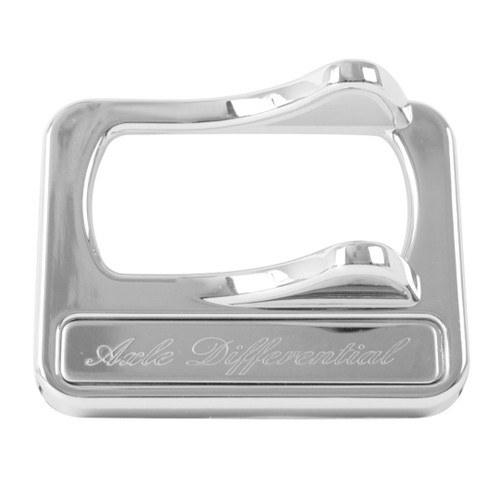 2005+ chrome plastic rocker switch cover with stainless steel script plate