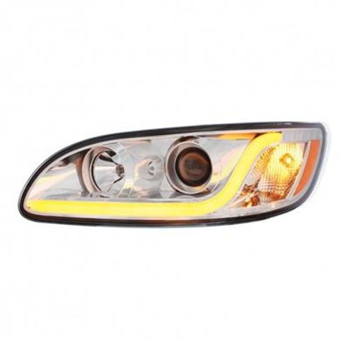 Peterbilt 386/387 Projection Headlight W/LED Dual Function Light Bar