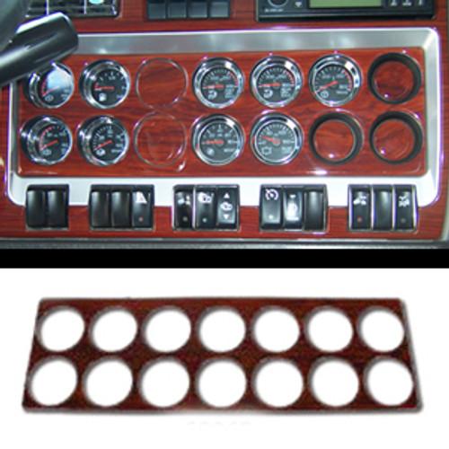 2006+ Kenworth Right Gauge Dash Panel Trim - 14 Holes