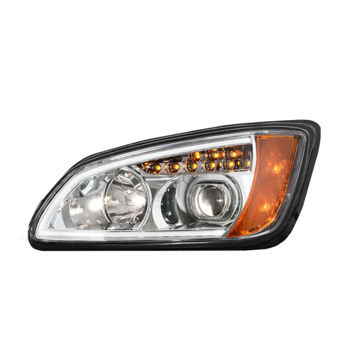 Kenworth T660 Projection Headlight with LED Turn Signal and White LED Running Light