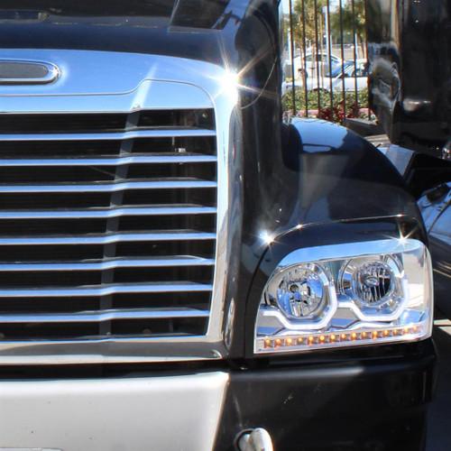Freightliner Century Chrome Projection Headlight W/LED Turn Signal & Light Bar