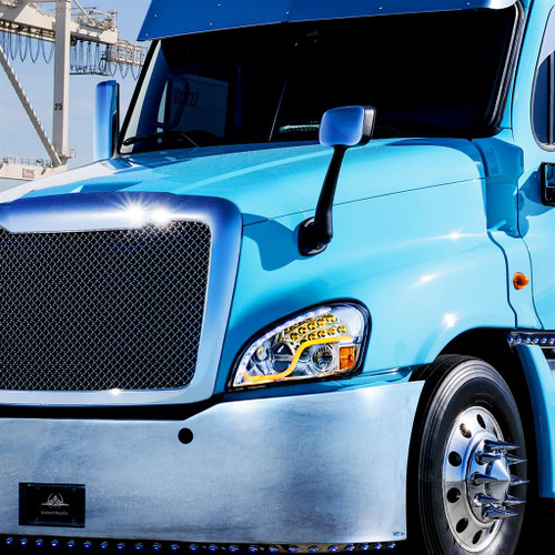 2008-2017 Freightliner Cascadia High Power LED Headlight W/LED Driving Light and LED Turn Signal